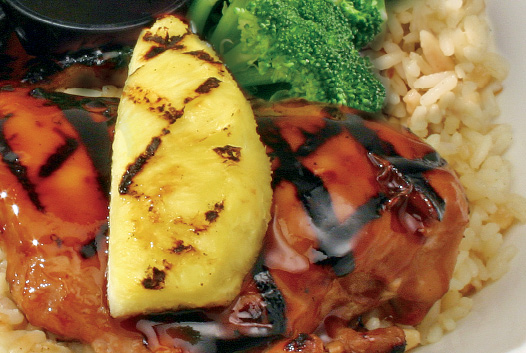 Chicken Teriyaki with grilled pineapple
