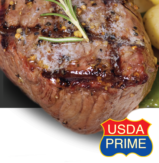 USDA Center cut Steak, delicately flavored.