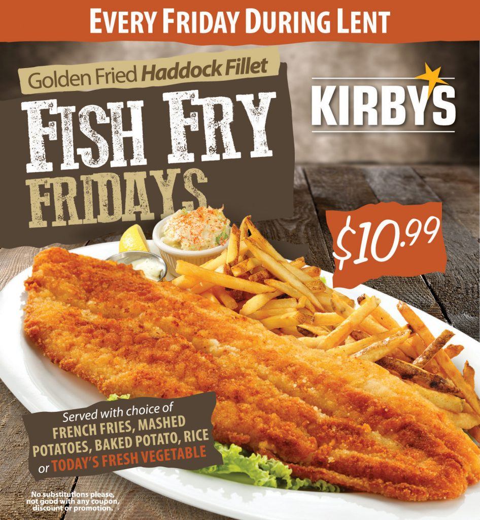 $10.99 Fish Fry Every Friday During Lent
